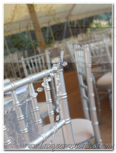 crystal chair garlands
