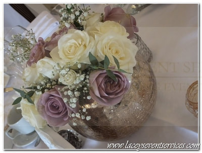 Rose Gold wedding Centrepieces