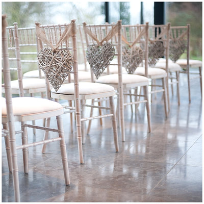 wicker heart chair decorations wedding